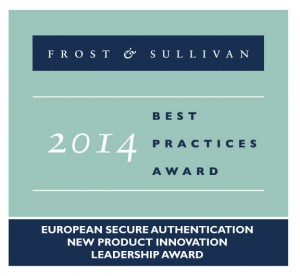 Frost & Sullivan Award European Secure Authentication New Product Innovation Leadership Award