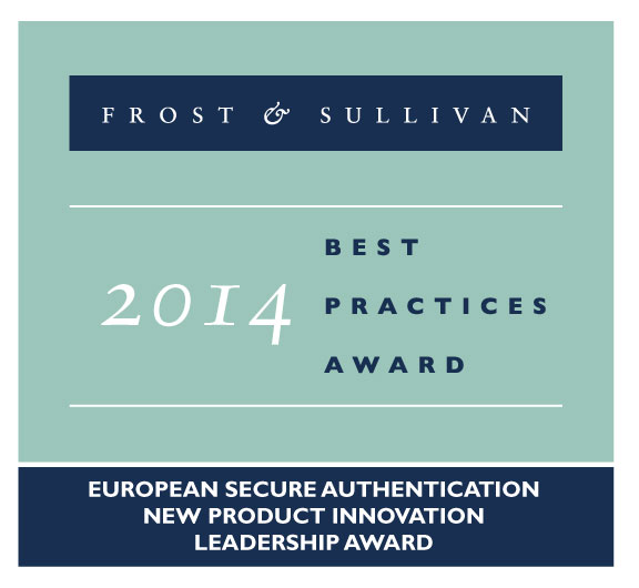 Frost & Sullivan Award European Secure Authentication New Product Innovation Leadership Award