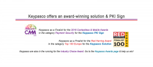 Red Herring and Contactless Intelligence Announces Keypasco as a Finalist for the 2016 Contactless & Mobile Awards announces Keypasco as the Finalists for 2016 Contactless & Mobile Award in Payment Security and Top 100 Europe Award