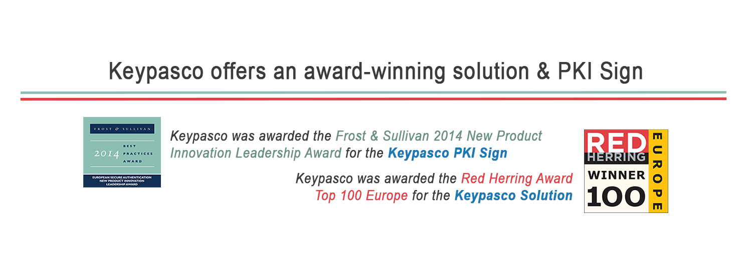 Keypasco was awarded with Red Herring and Frost & Sullivan New Product Innovation Leadership Award